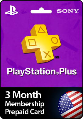 PSN PLUS 3 MONTHS USA